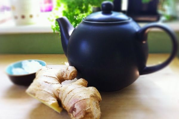 Имбирный чай с чесноком
