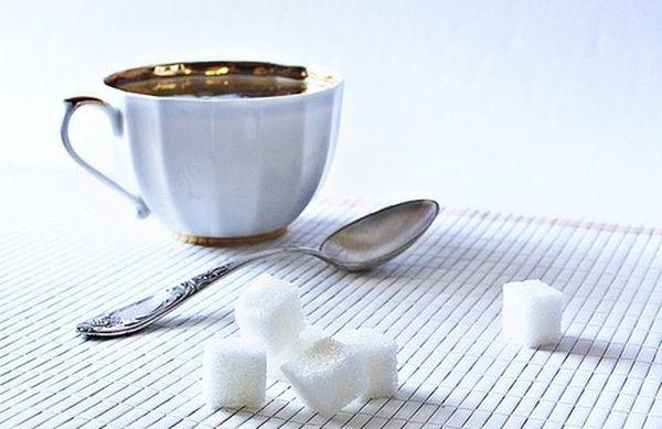 зеленый чай с сахаром