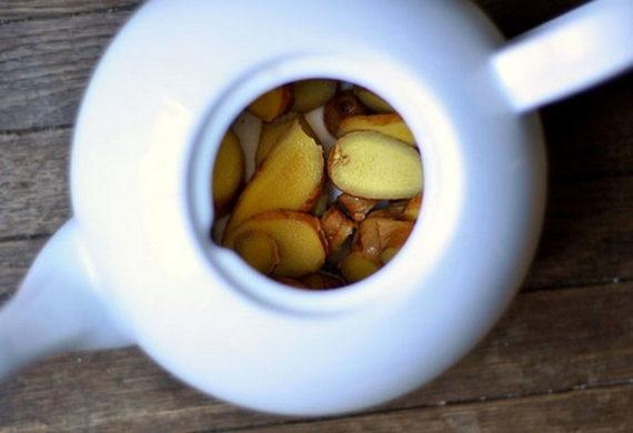 имбирный чай в заварнике