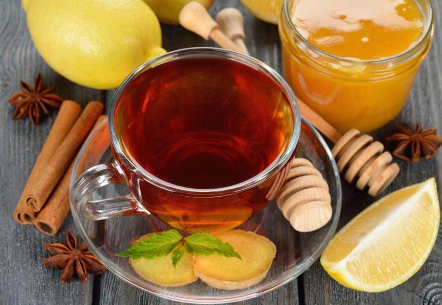 чай с лимоном медом имбирем