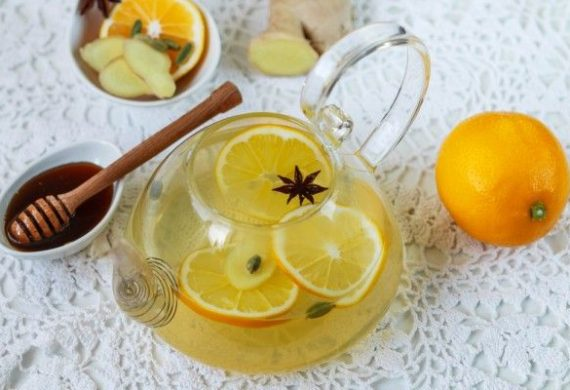 Чай с имбирем с апельсином
