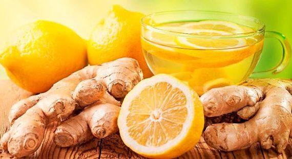 Зеленый чай, имбирь, лимон, мед для похудения