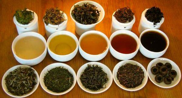 черный, красный, желтый чай