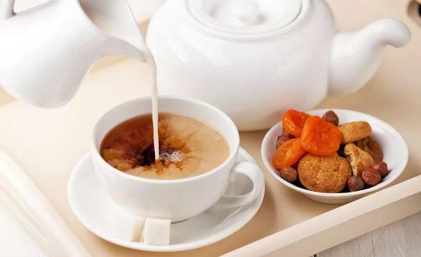 чай молоком