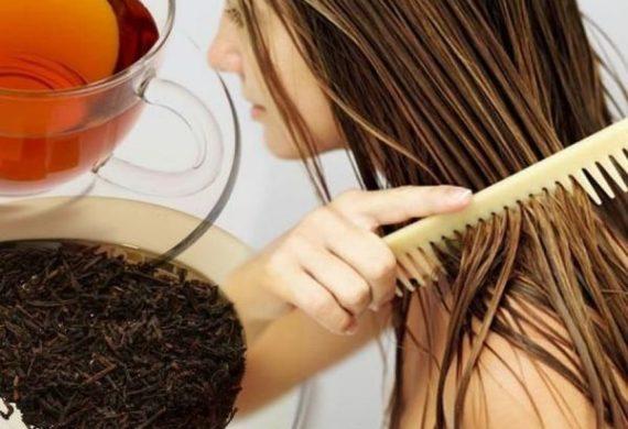 как волосы покрасить чаем