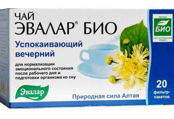 Чай Эвалар Био успокаивающий вечерний