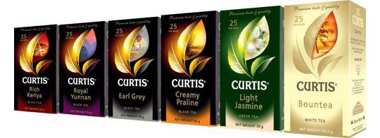 Кертис чай: классические, зеленые, фруктовые и десертные виды.